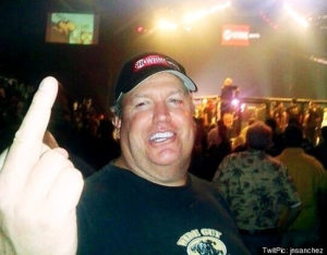 Rex Ryan giving finger