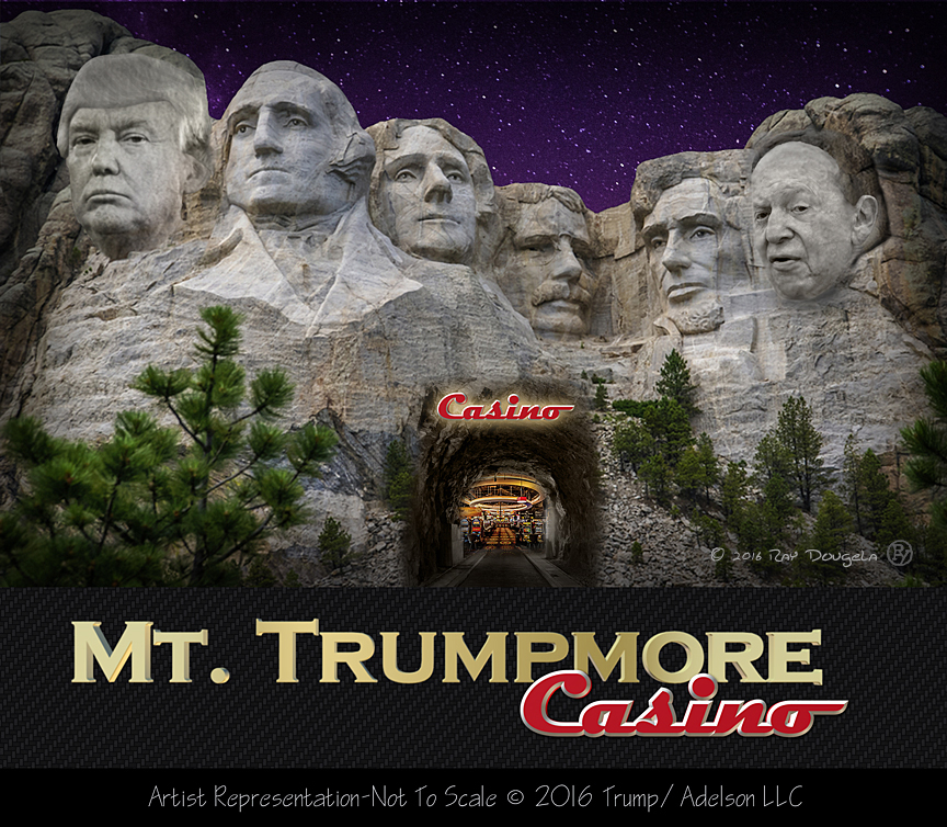 Trump In Partnership With Sheldon Adelson To Build Casino on Site of Mt. Rushmore