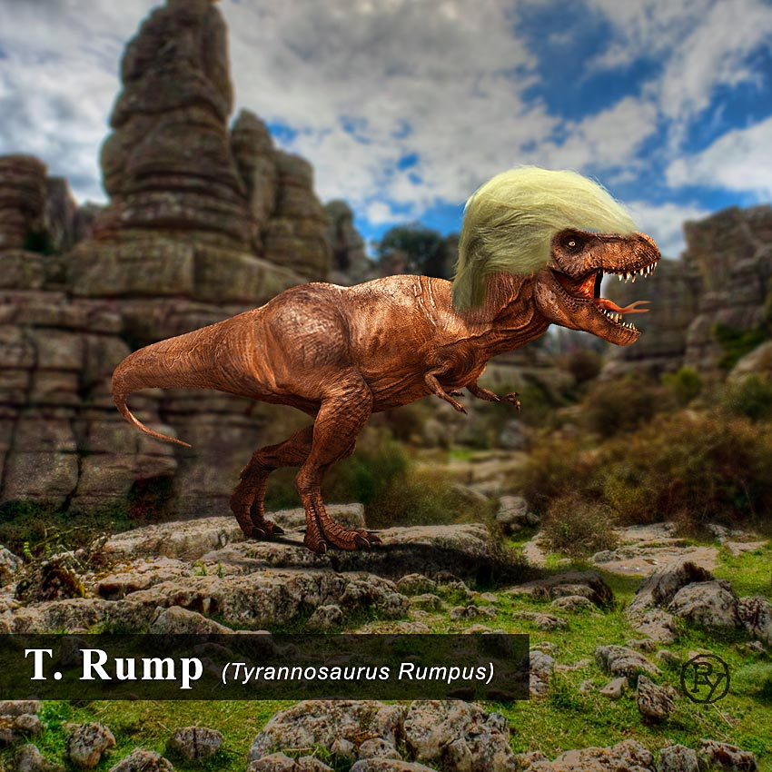 T.rump Fossil Discovered in Manhattan. Living Ancestor Possible