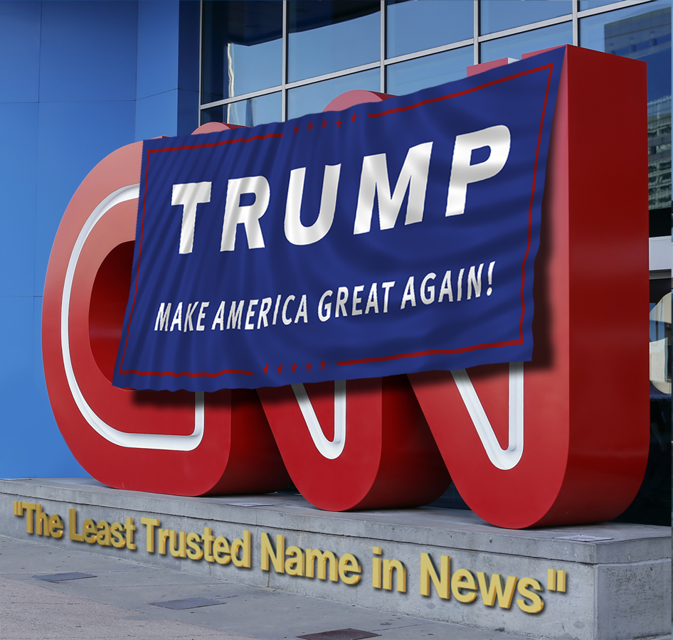In Pre-Dawn Raid, Trump Supporters Defaced CNN's Atlanta Headquarters