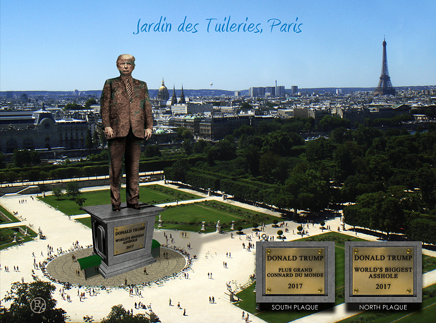 "Following Embarrassing G7 Summit Parisians Mock Trump With ""World's Biggest Assh*le"" Art Installation"