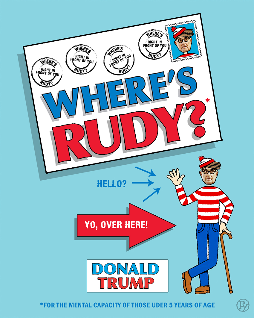 "Vile Press Publishes 'Instant' Book ""Where's Rudy?"" by Donald J. Trump"