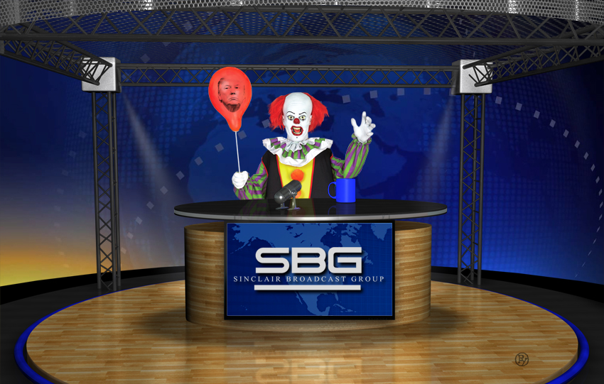 Reeling Sinclair Broadcasting Group Replaces All of Its Local News Anchors With a Single Animatronic Clown