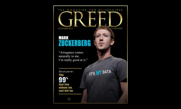 Run for Cover? Greed Magazine's November Issue May Be Bad Timing for Mark Zuckerberg