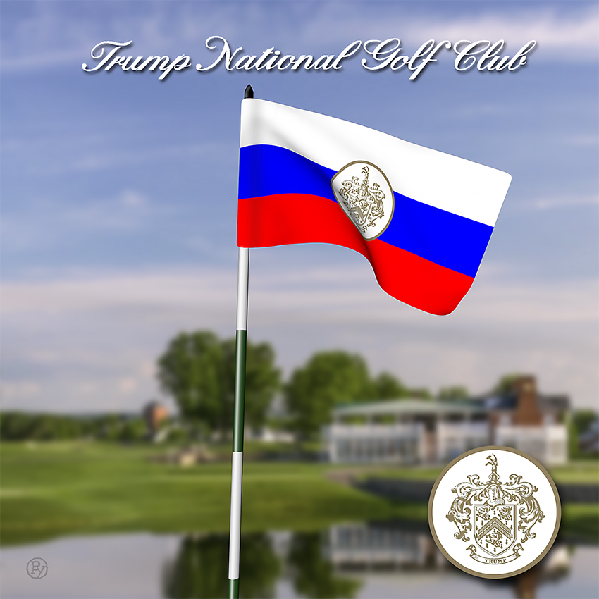 President's Son Denies Russian Influence in Redesign of Trump National Golf Club's Flagsticks