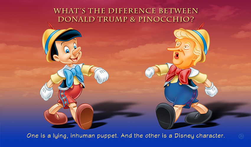 What's The Difference Between Donald Trump and Pinocchio?