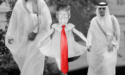 "Mohammed Bin Salman Presents Donald Trump in ""Arabian Curtsy"""