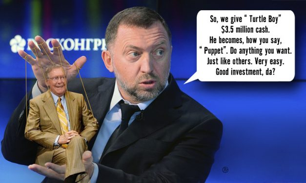 Oleg Deripaska Presents 'The Turtle Puppet'
