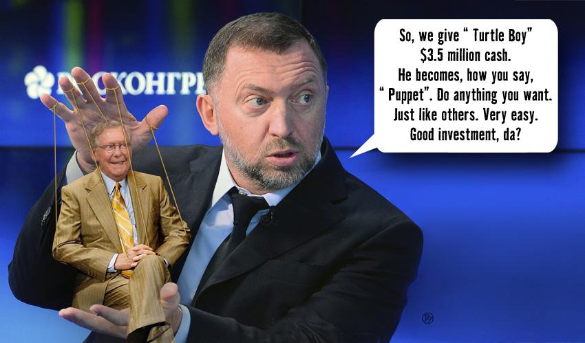 Oleg Deripaska Presents 'The Turtle Puppet'
