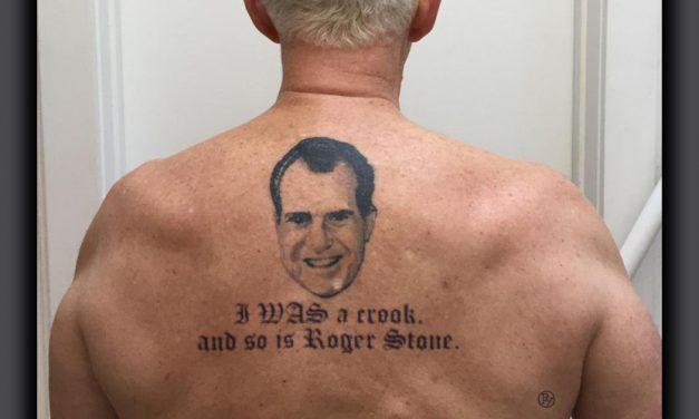 Roger Stone's Creepy Tattoo Reboot