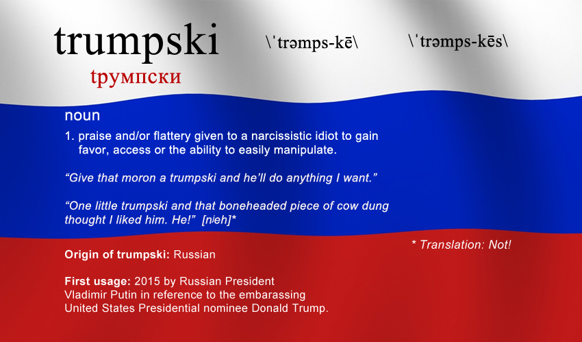 """Trumpski"" Added to Official Russian Dictionary"