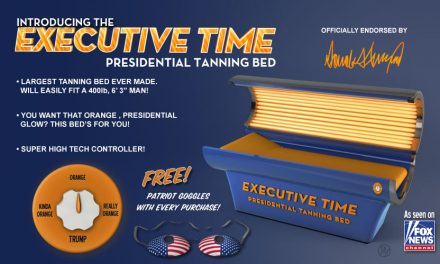 Fight the Winter Blues: Introducing Donald Trump's Executive Time Presidential Tanning Bed