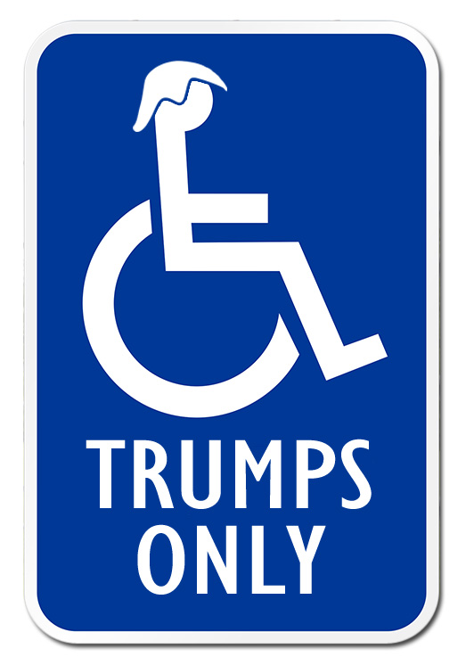 Justice Department Defends New Trump Family Handicap Placard