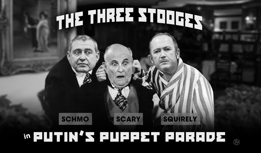 Dasvidaniya Lev? Rudy Giuliani's Three Stooges Down a Stooge