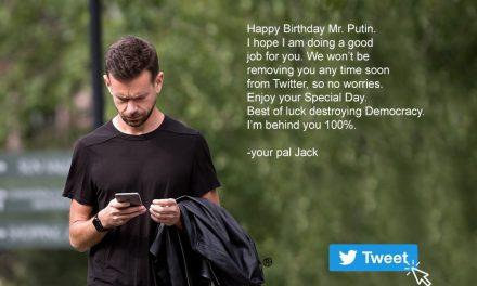 Jack Dorsey's Touching Birthday Greeting to Vladimir Putin Roils Twitter Stock Price