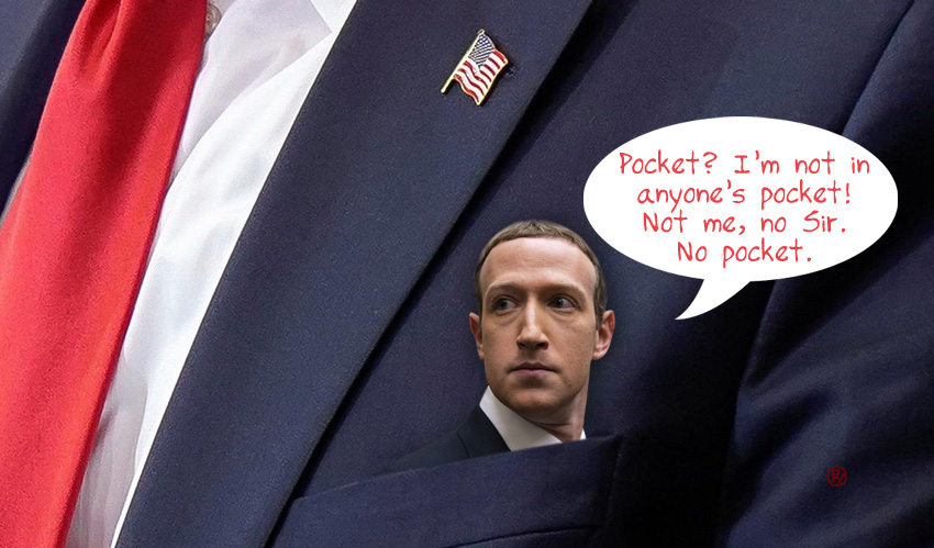 """Zuckerberg Goes on Offense: """"No Pocket. You're the pocket. No, you're the pocket."""""""