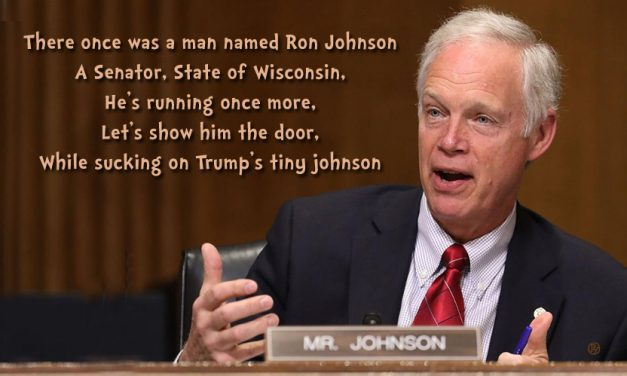 Senator Ron Johnson Pulls Ahead in Race for Sycophant of the Year Award