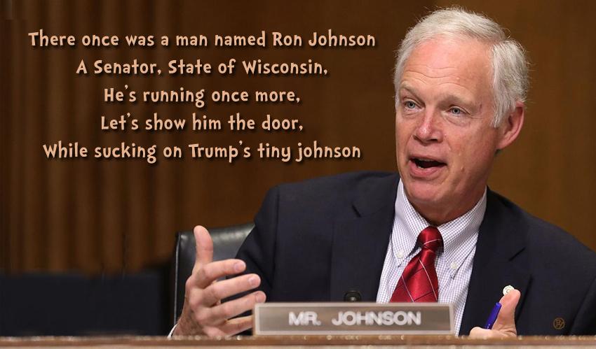 Senator Ron Johnson: Sycophant of the Year?