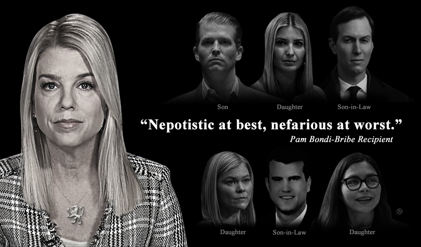 Pam Bondi Firmly Denounces Nepotism