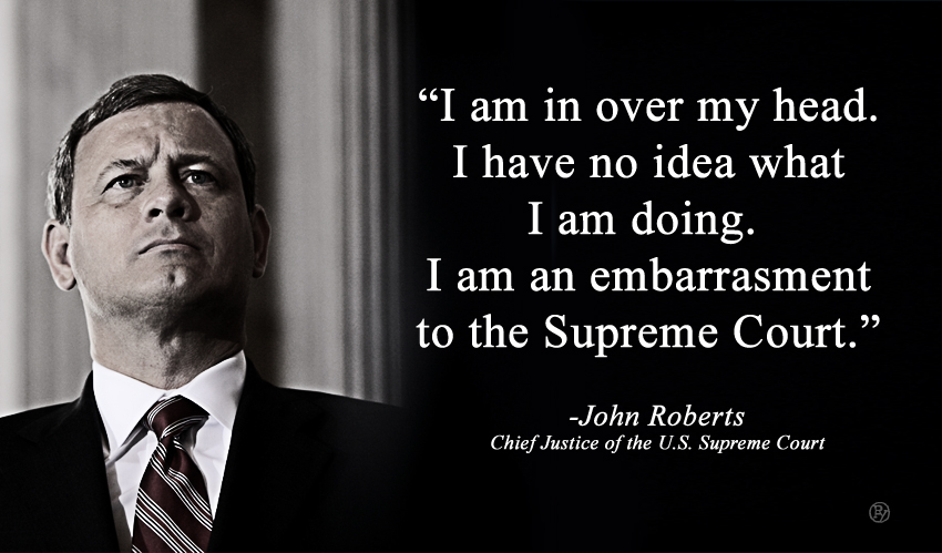 John Roberts Has An Epiphany