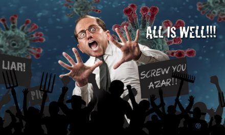 HHS Secretary Alex Azar Gets an Early Start on Halloween. And Yes, It's Scary
