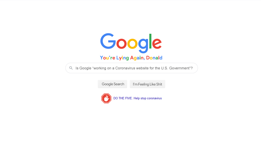 Google Search Mocks Current President