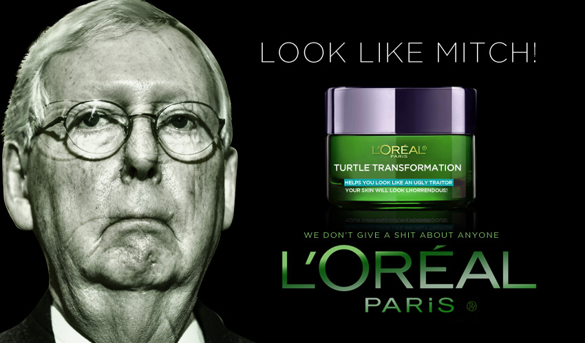 McConnell Attaches Kentucky-based L'Oreal's 'Turtle Transformation Cream' to Emergency Coronavirus Bill