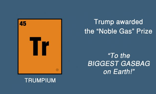 Trump Receives Noble Prize for Creating New Self-Test to Identify Virulent Gas