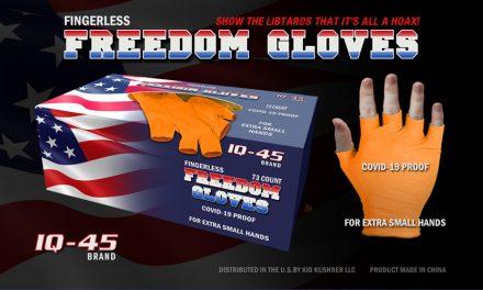 Trump Praises Fingerless Freedom Gloves in Fight Against Coronavirus; Denies Conflict of Interest