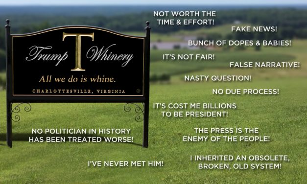 """Smells Like a Wet Dog:"" Trump Whinery Plagued by Cork Taint"